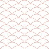 Geometric Seamless Pattern. Seamless ornament. Modern background. Geometric pattern with repeating pink wavy lines Stock Images