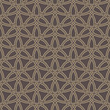 Geometric Seamless Pattern. Seamless ornament. Modern geometric pattern with repeating golden wavy lines Stock Photos