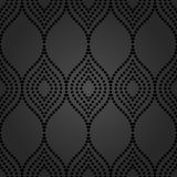 Geometric Seamless  Pattern. Pattern with seamless  ornament. Modern stylish geometric background with black repeating dotted waves Stock Image
