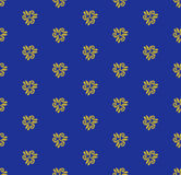 Geometric Seamless  Pattern. Seamless  ornament. Modern stylish geometric blue and golden pattern with repeating elements Royalty Free Stock Photography
