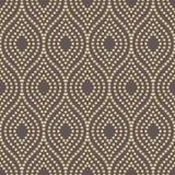 Geometric Seamless Pattern. Seamless ornament. Modern stylish geometric pattern with dotted golden wavy lines Royalty Free Stock Photo