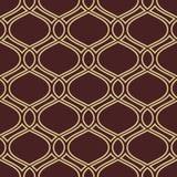 Geometric Seamless Pattern. Seamless ornament. Modern stylish geometric pattern with repeating golden wavy lines Stock Photography