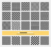 Geometric Seamless Pattern Pack 002. Vector geometric texture pack of 20 abstract geometry pattern background. Modern minimalistic clean design with seamless Royalty Free Stock Photo