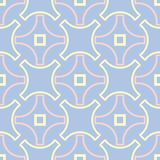 Geometric seamless pattern. Pale blue background with beige and pink elements. For wallpapers, textile and fabrics Stock Image