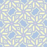 Geometric seamless pattern. Pale blue background with beige and pink elements. For wallpapers, textile and fabrics Stock Photo