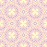 Geometric seamless pattern. Pale pink background with blue and beige elements. For wallpapers, textile and fabrics Stock Photography