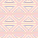 Geometric seamless pattern. Pale pink background with blue and beige elements. For wallpapers, textile and fabrics Stock Images