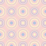 Geometric seamless pattern. Pale pink background with blue and beige elements. For wallpapers, textile and fabrics vector illustration