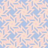 Geometric seamless pattern. Pale pink background with blue and beige elements. For wallpapers, textile and fabrics Stock Photo