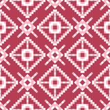 Geometric seamless pattern. Pale red and beige background. For wallpapers, textile and fabrics Royalty Free Stock Photos