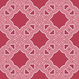 Geometric seamless pattern. Pale red and beige background. For wallpapers, textile and fabrics Stock Photo