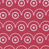 Geometric seamless pattern. Pale red and beige background. For wallpapers, textile and fabrics Stock Images