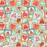 Geometric seamless pattern in patchwork style. Royalty Free Stock Photo