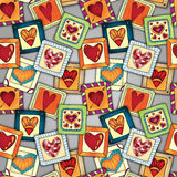 Geometric seamless pattern in patchwork style. Royalty Free Stock Photos