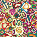 Geometric seamless pattern in patchwork style. Stock Photos