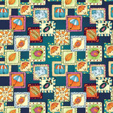 Geometric seamless pattern in patchwork style. Royalty Free Stock Photography