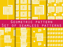 Geometric seamless pattern. The pattern in pink. The pattern for wallpaper, tiles, fabrics and designs. Stock Photo