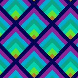 Geometric seamless pattern in peacock feather color inspiration. royalty free illustration