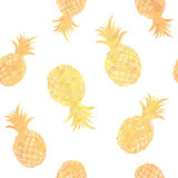 Geometric seamless pattern with pineapples Stock Image