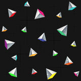Geometric seamless pattern with pyramids. Stock Images