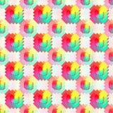 Geometric seamless pattern in rainbow color. Geometric abstract seamless pattern. Vector background. Abstract shapes. Geometric background with multicolor Stock Photo
