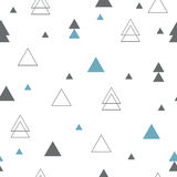 Geometric seamless pattern. Repeating geometric triangles Stock Photo