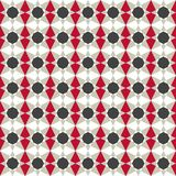 Geometric seamless pattern in retro colors Royalty Free Stock Image
