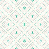 Geometric seamless pattern, rhombus and snowflakes Royalty Free Stock Photos