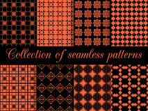 Geometric seamless pattern. Rhombus and squares. Vector illustration. Royalty Free Stock Photography
