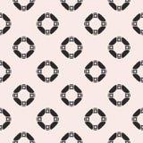 Geometric seamless pattern, ring, squares Stock Image