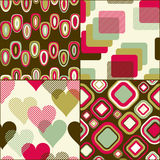 Geometric seamless pattern set Stock Photos
