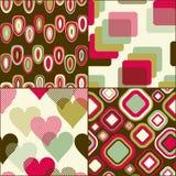 Geometric seamless pattern set stock illustration