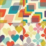 Geometric seamless pattern set Royalty Free Stock Images