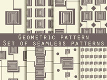 Geometric seamless pattern. Set. The pattern for wallpaper, tiles, fabrics and designs. Stock Image