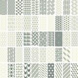 50 geometric seamless pattern set. Royalty Free Stock Photos