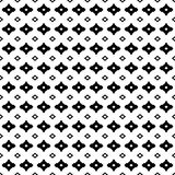 Geometric seamless pattern. Simple figures, rhombuses. Geometric pattern. Monochrome seamless pattern, black & white geometric texture with simple figures Stock Photography