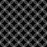 Geometric seamless pattern. Simple monochrome geometric seamless pattern. Vector abstract background stock illustration