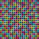 Geometric seamless pattern of square, abstract background. Checkered design, bright multicolored squares. For the. Design of wallpaper, wrap, fabric. Vector Stock Images
