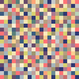 Geometric seamless pattern of square, abstract background. Checkered design, bright multicolored squares. For the. Design of wallpaper, wrap, fabric. Vector Stock Photo