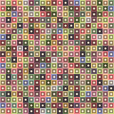 Geometric seamless pattern of square, abstract background. Checkered design, bright multicolored squares. For the. Design of wallpaper, wrap, fabric. Vector Royalty Free Stock Images