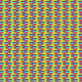 Geometric seamless pattern of square, abstract background, optical illusion. Checkered design, bright multicolored Stock Image
