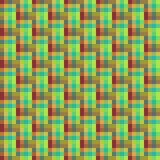 Geometric seamless pattern of square, abstract background, optical illusion. Checkered design, bright multicolored squares and the Stock Image