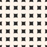 Geometric seamless pattern with square concave shapes Stock Image