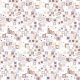 Geometric seamless pattern. The squares of different sizes and colors, arranged on white background. Stock Photo