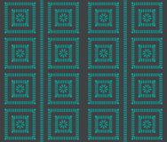 Geometric seamless pattern with squares and lines. Stock Images