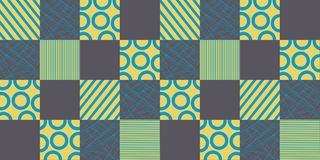 Geometric seamless pattern with squares. Modern design for the fabric Vector Illustration