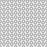 Geometric seamless pattern with stylized stars. Vector background Royalty Free Stock Image