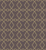 Geometric Seamless  Pattern. Geometric  texture with oriental elements. Seamless pattern with golden grill for wallpapers and background Stock Image