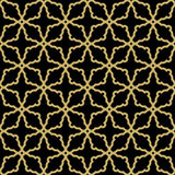Geometric Seamless  Pattern. Geometric  texture with oriental elements. Seamless pattern with golden grill for wallpapers and backgrounds Stock Photography