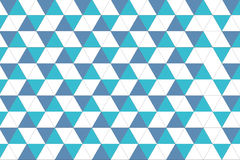 Geometric seamless pattern. Triangle pattern in blue tone. Trendy beauty simple many triangle seamless pattern Royalty Free Stock Image
